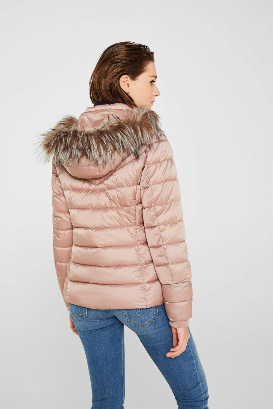 Hooded quilted jacket with 3M™ Thinsulate™ filling, OLD PINK, detail image number 3