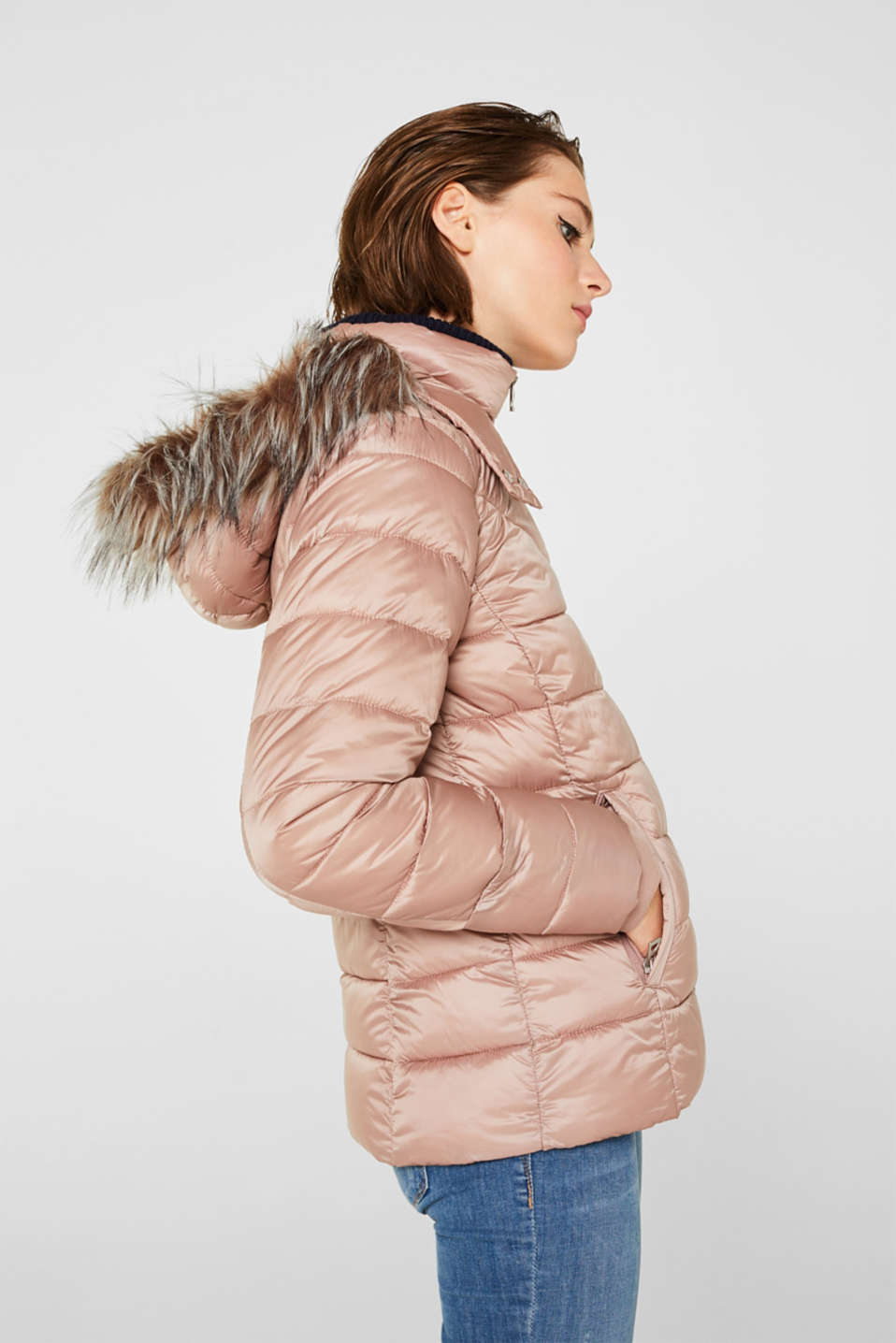 Hooded quilted jacket with 3M™ Thinsulate™ filling, OLD PINK, detail image number 5