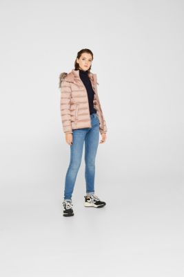 Hooded quilted jacket with 3M™ Thinsulate™ filling, OLD PINK, detail