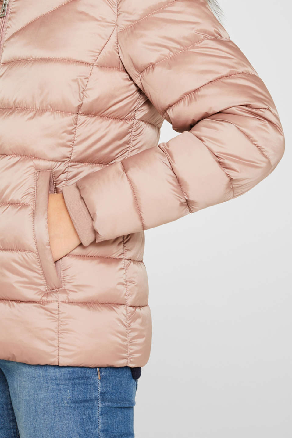 Hooded quilted jacket with 3M™ Thinsulate™ filling, OLD PINK, detail image number 2