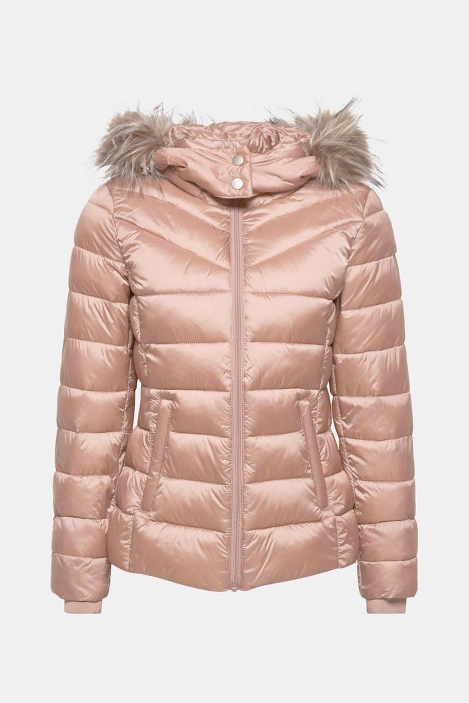 Hooded quilted jacket with 3M™ Thinsulate™ filling, OLD PINK, detail image number 7