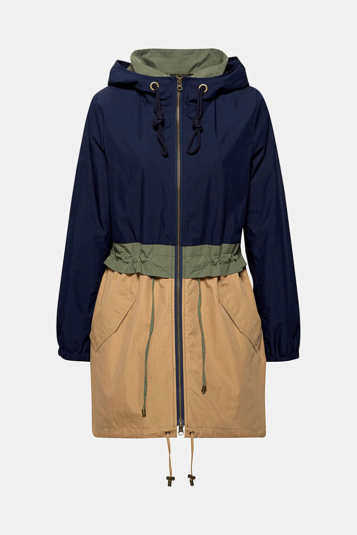 Parka made of blended cotton, NAVY, detail image number 0
