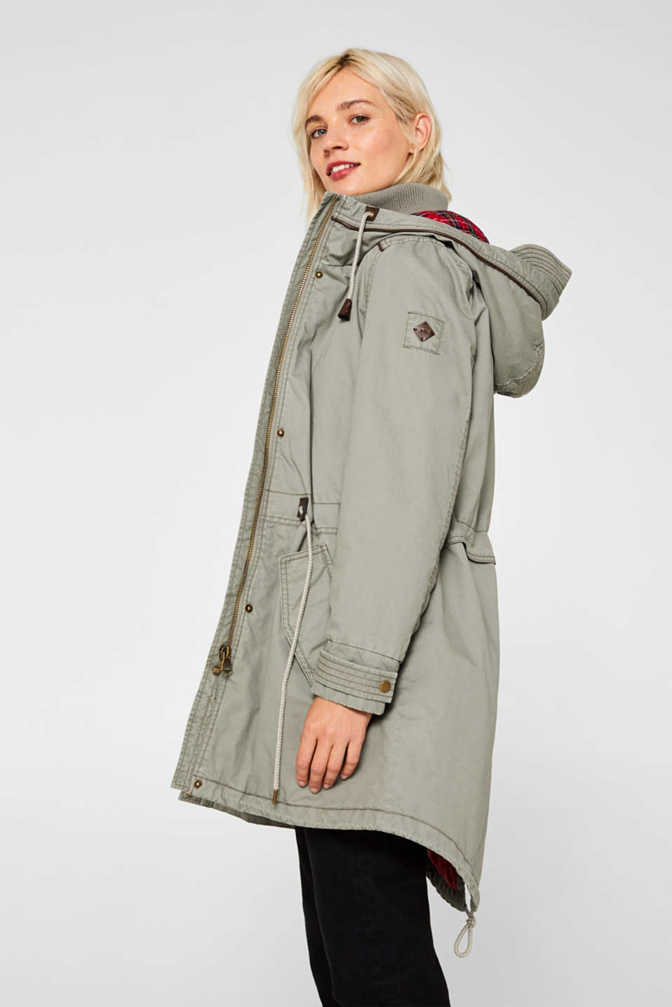 Coats woven, KHAKI GREEN, detail image number 5