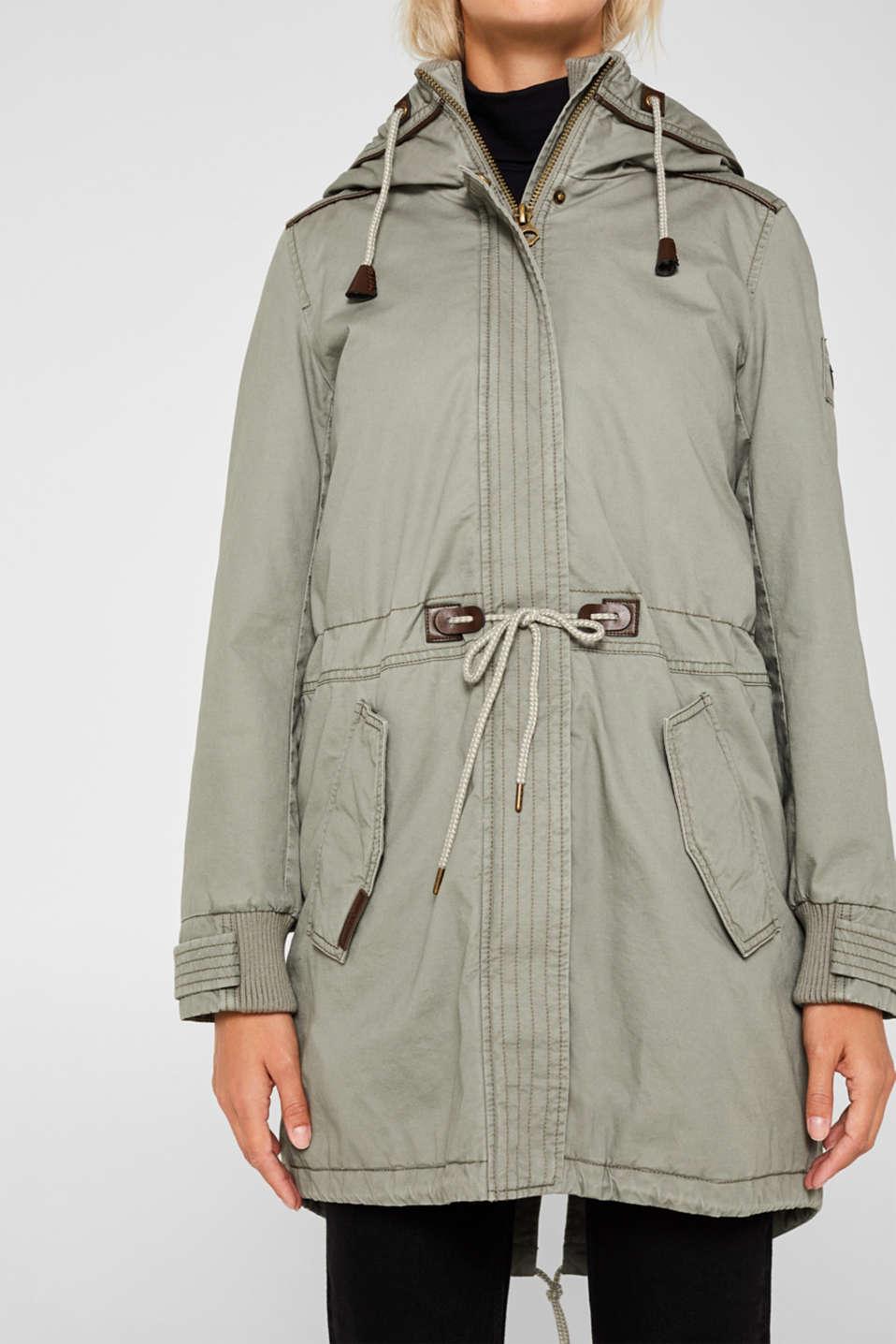 Coats woven, KHAKI GREEN, detail image number 2