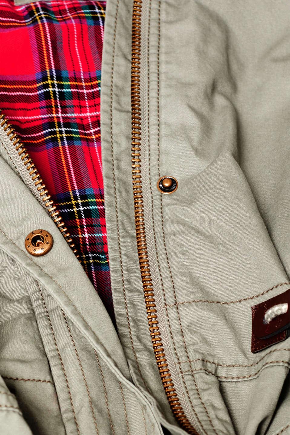 Coats woven, KHAKI GREEN, detail image number 4