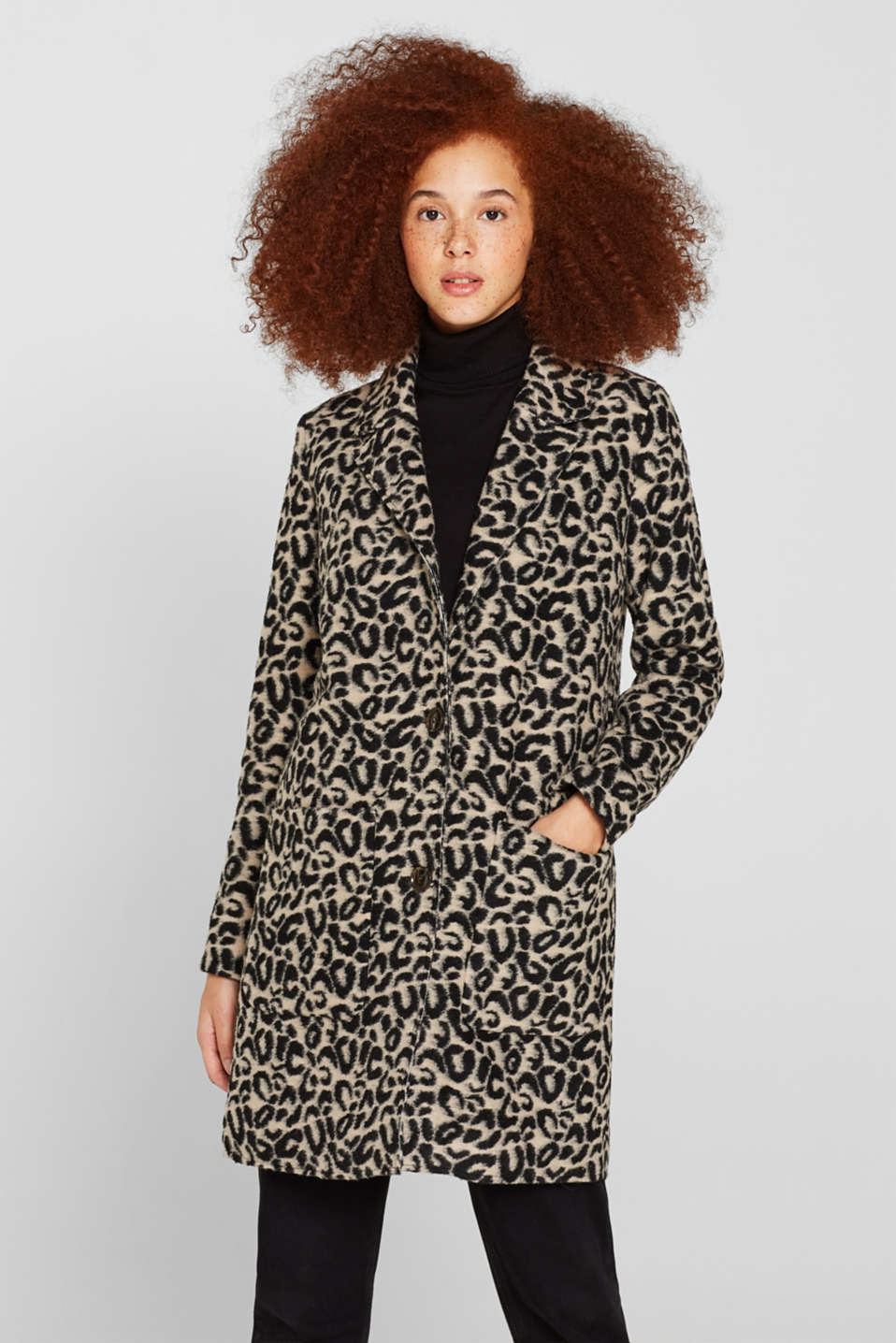 edc - With wool: leopard look coat