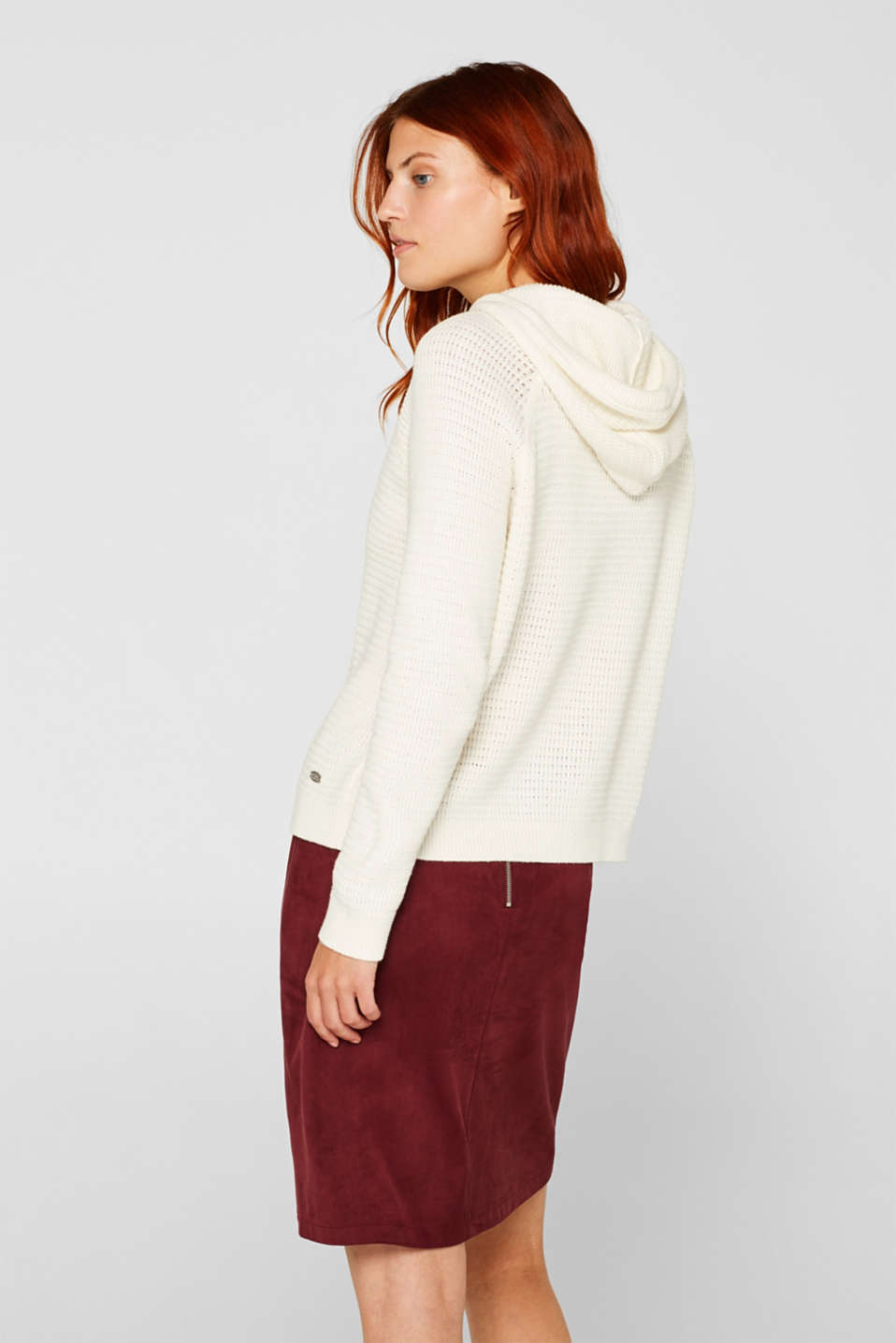 Jumper with organic cotton, 100% cotton, OFF WHITE, detail image number 3