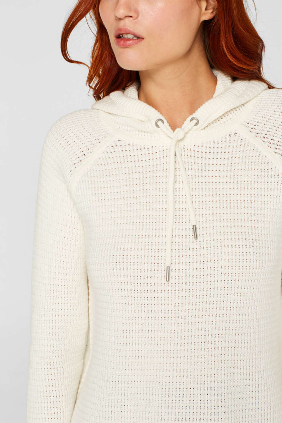 Jumper with organic cotton, 100% cotton, OFF WHITE, detail image number 2