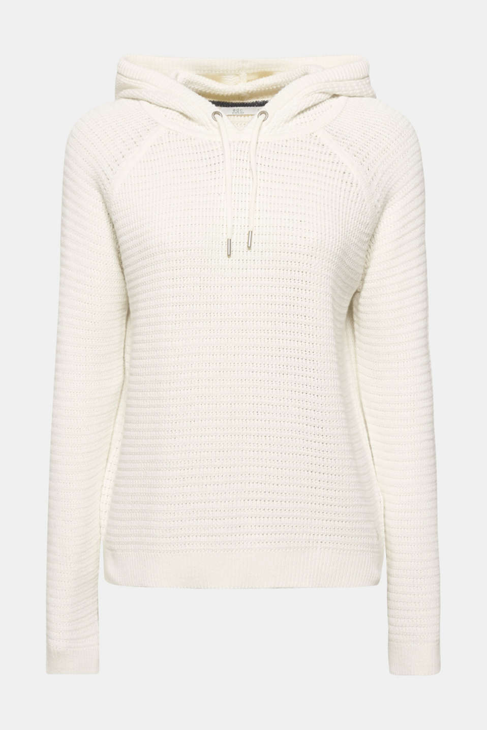 Jumper with organic cotton, 100% cotton, OFF WHITE, detail image number 9