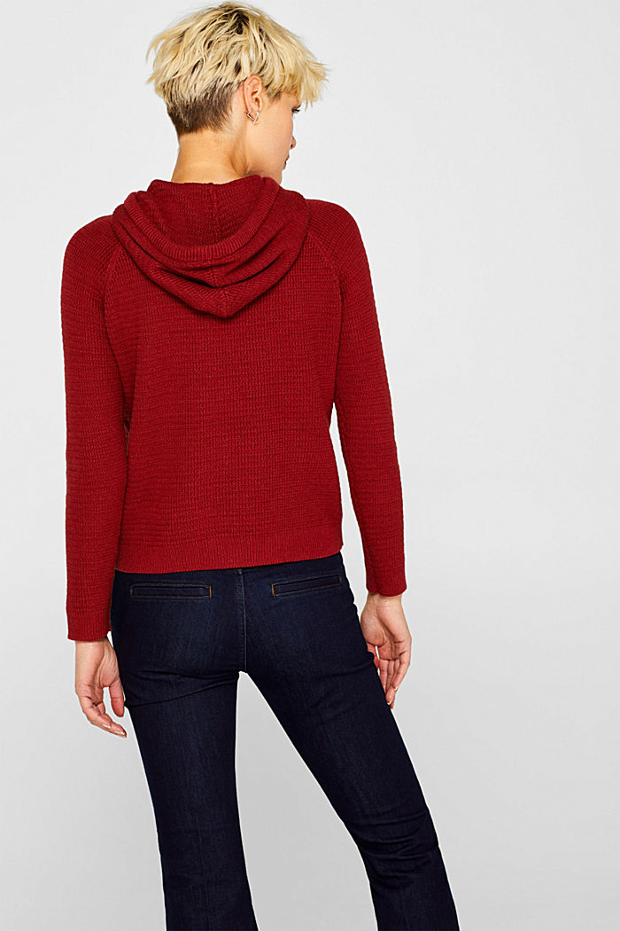 Jumper with organic cotton, 100% cotton, TERRACOTTA, detail image number 3
