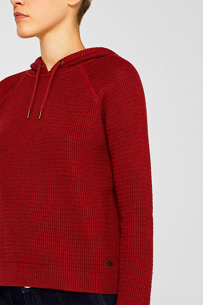 Jumper with organic cotton, 100% cotton, TERRACOTTA, detail image number 2