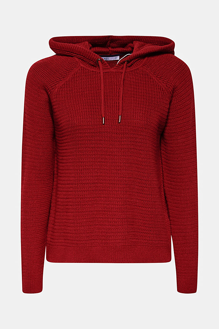 Jumper with organic cotton, 100% cotton, TERRACOTTA, detail image number 6