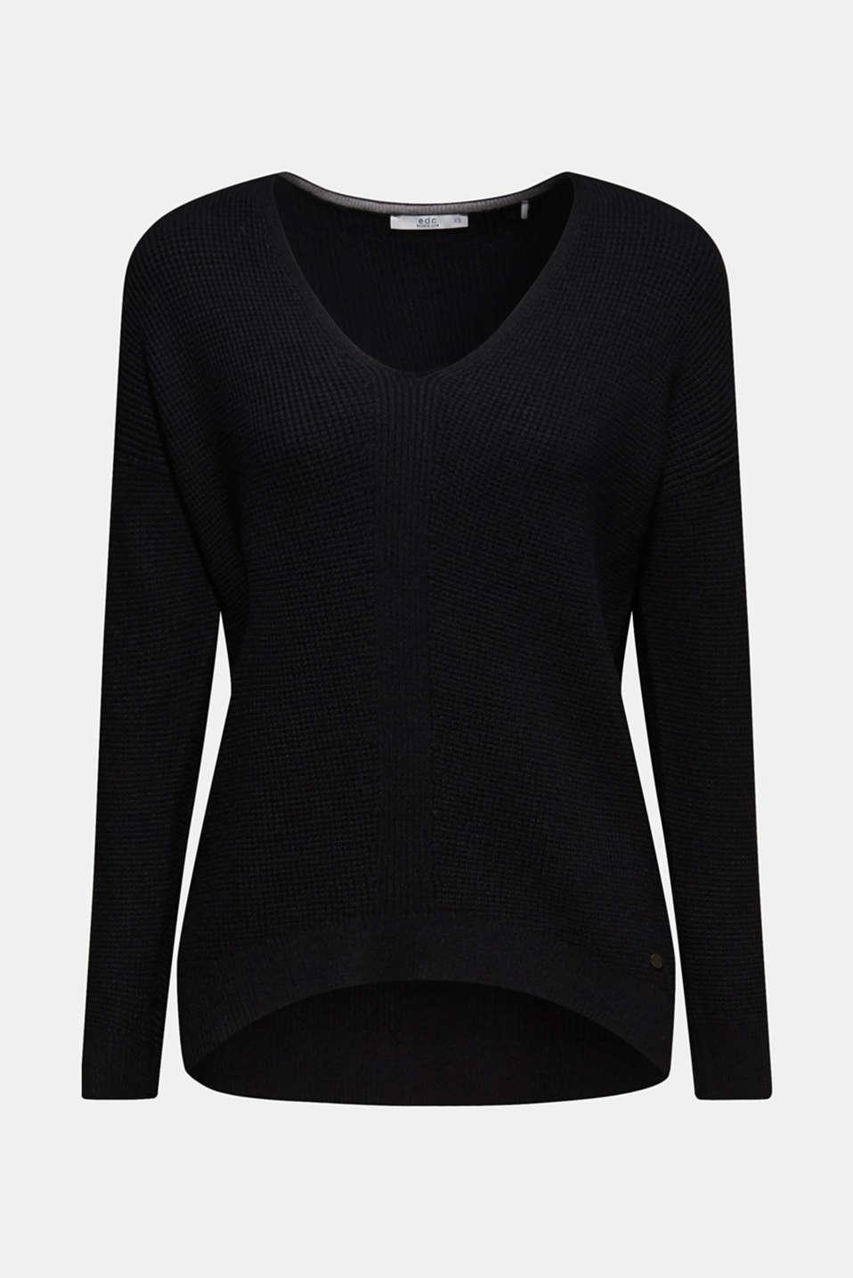 Sweaters, BLACK, detail image number 8