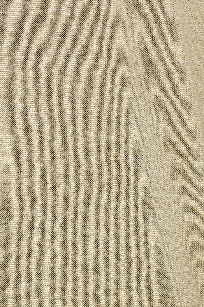 V-neck jumper containing organic cotton, KHAKI GREEN, detail image number 4