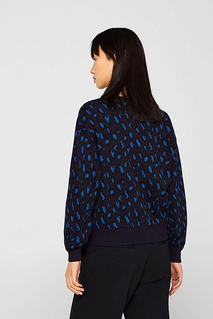 Leopard sweatshirt, 100% cotton, BRIGHT BLUE, detail image number 3