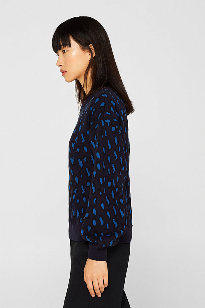 Leopard sweatshirt, 100% cotton, BRIGHT BLUE, detail image number 5