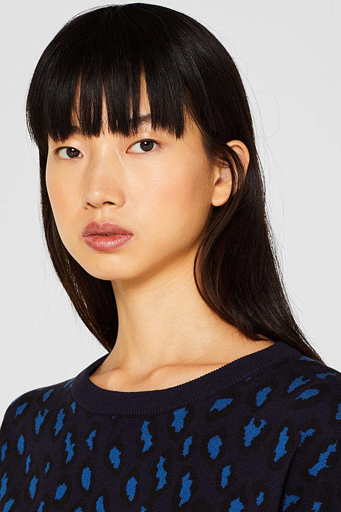 Leopard sweatshirt, 100% cotton, BRIGHT BLUE, detail image number 2