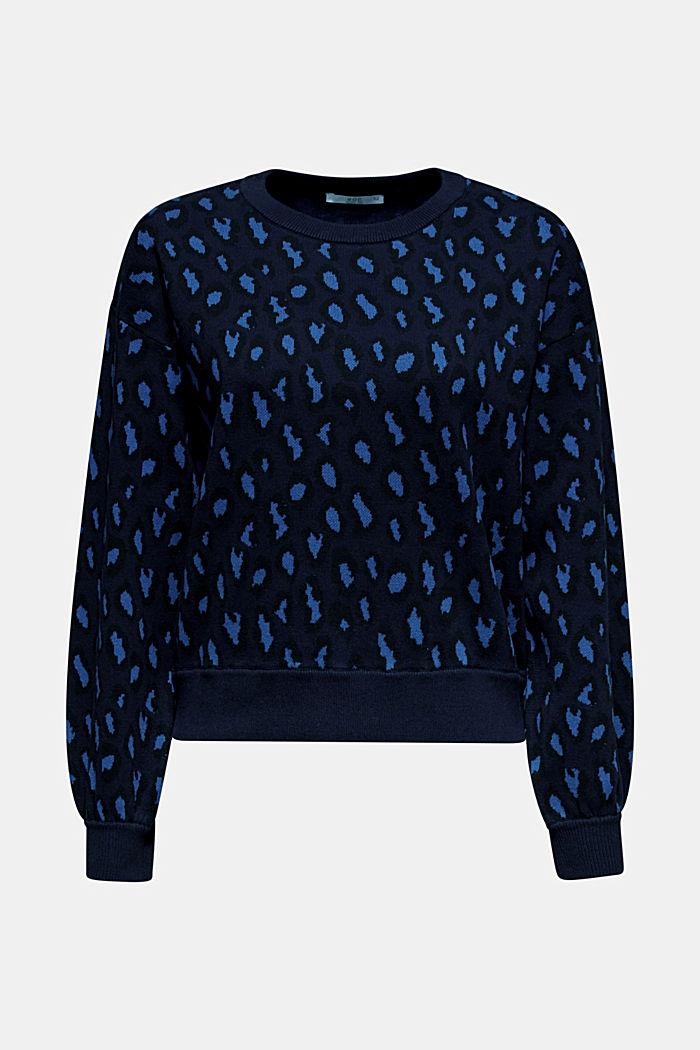 Leopard sweatshirt, 100% cotton, BRIGHT BLUE, detail image number 6