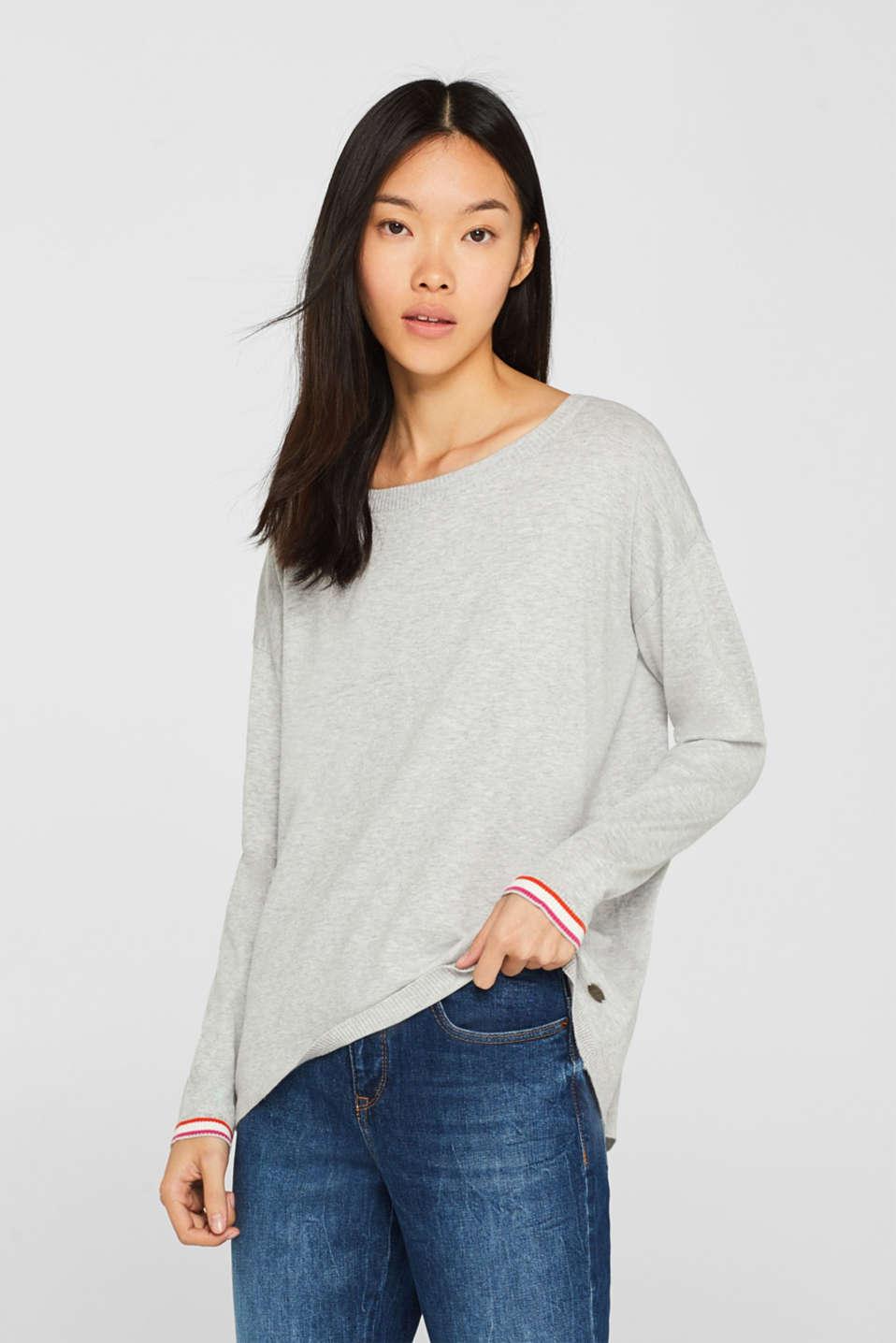 edc Pullover mit Streifen Details im Online Shop kaufen