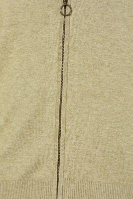 Cardigan with racing stripes, KHAKI GREEN 5, detail