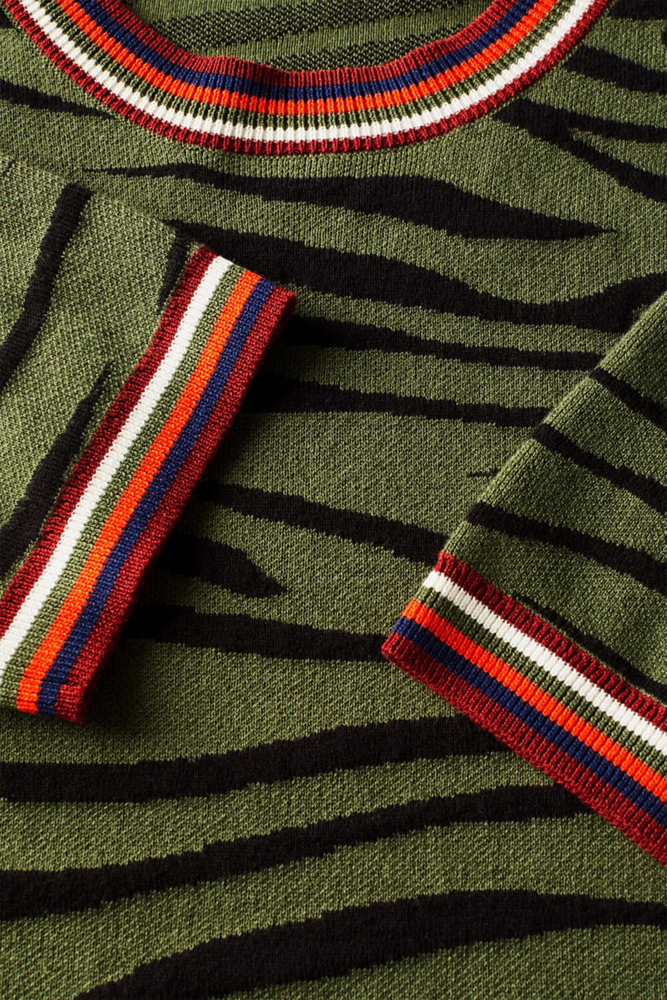 Sweaters, KHAKI GREEN 5, detail image number 4