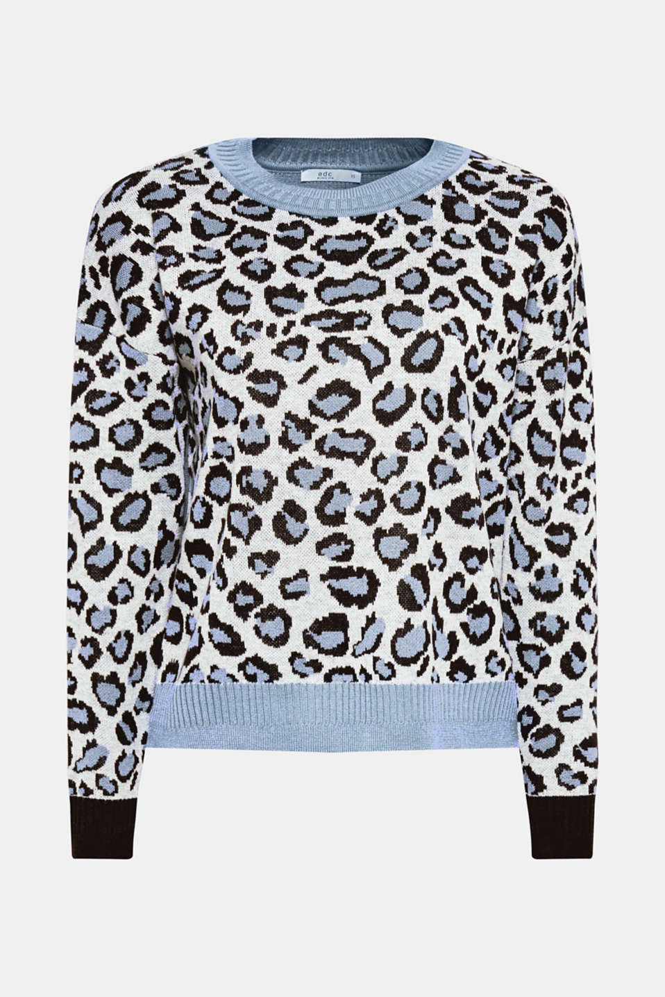 With wool: jumper with animal print, LIGHT BLUE, detail image number 6