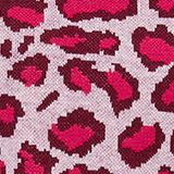 With wool: jumper with animal print, PINK FUCHSIA, swatch