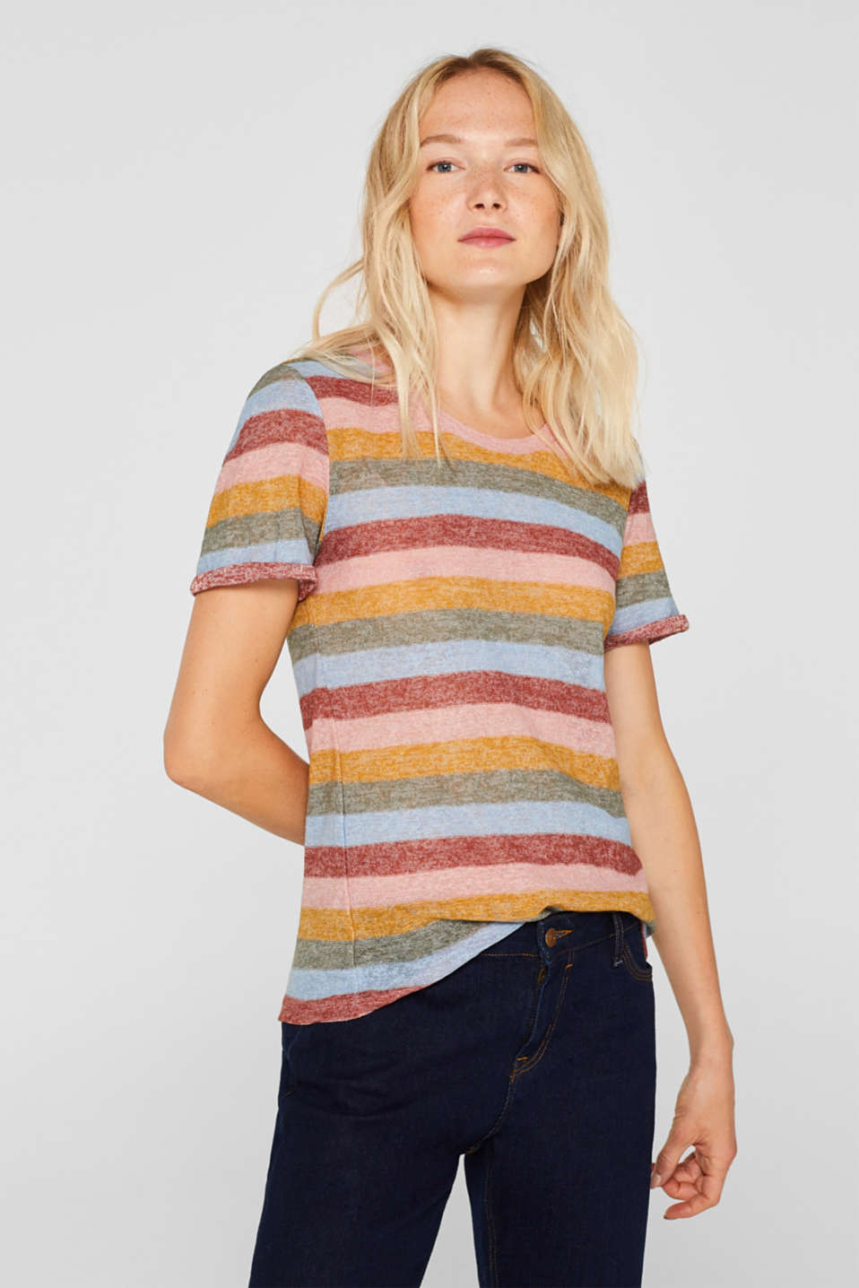 edc Striped knitted top at our Online Shop