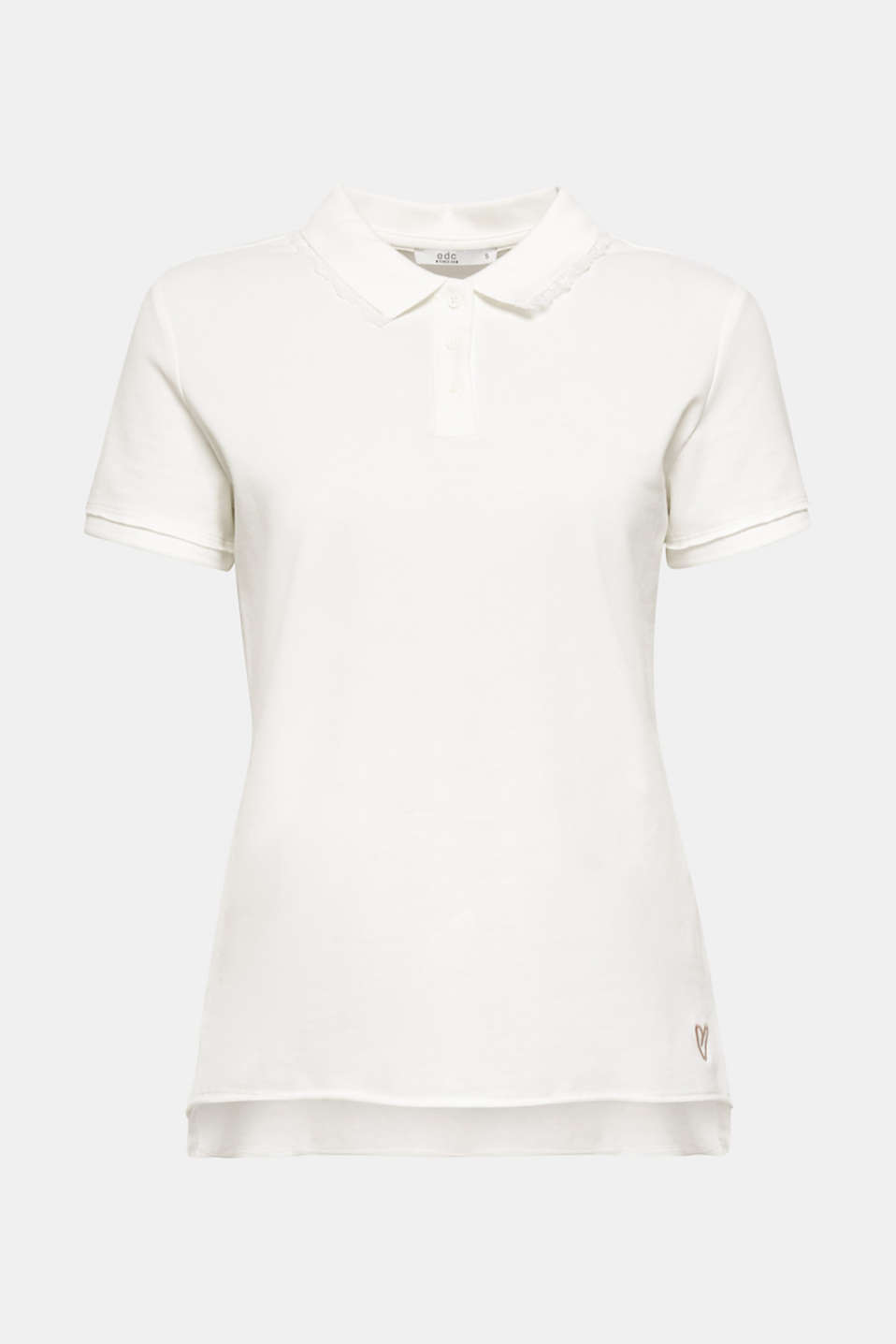 edc - Lace-trimmed polo shirt