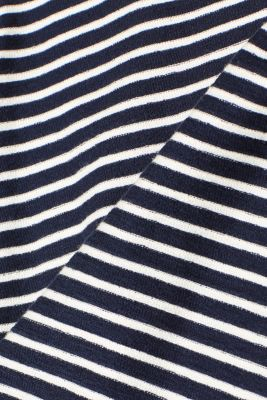 Striped top with frills, NAVY, detail
