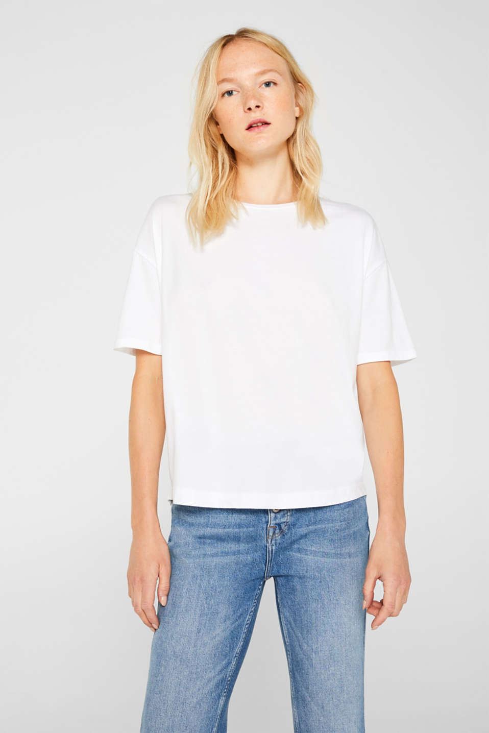 Washed-effect T-shirt