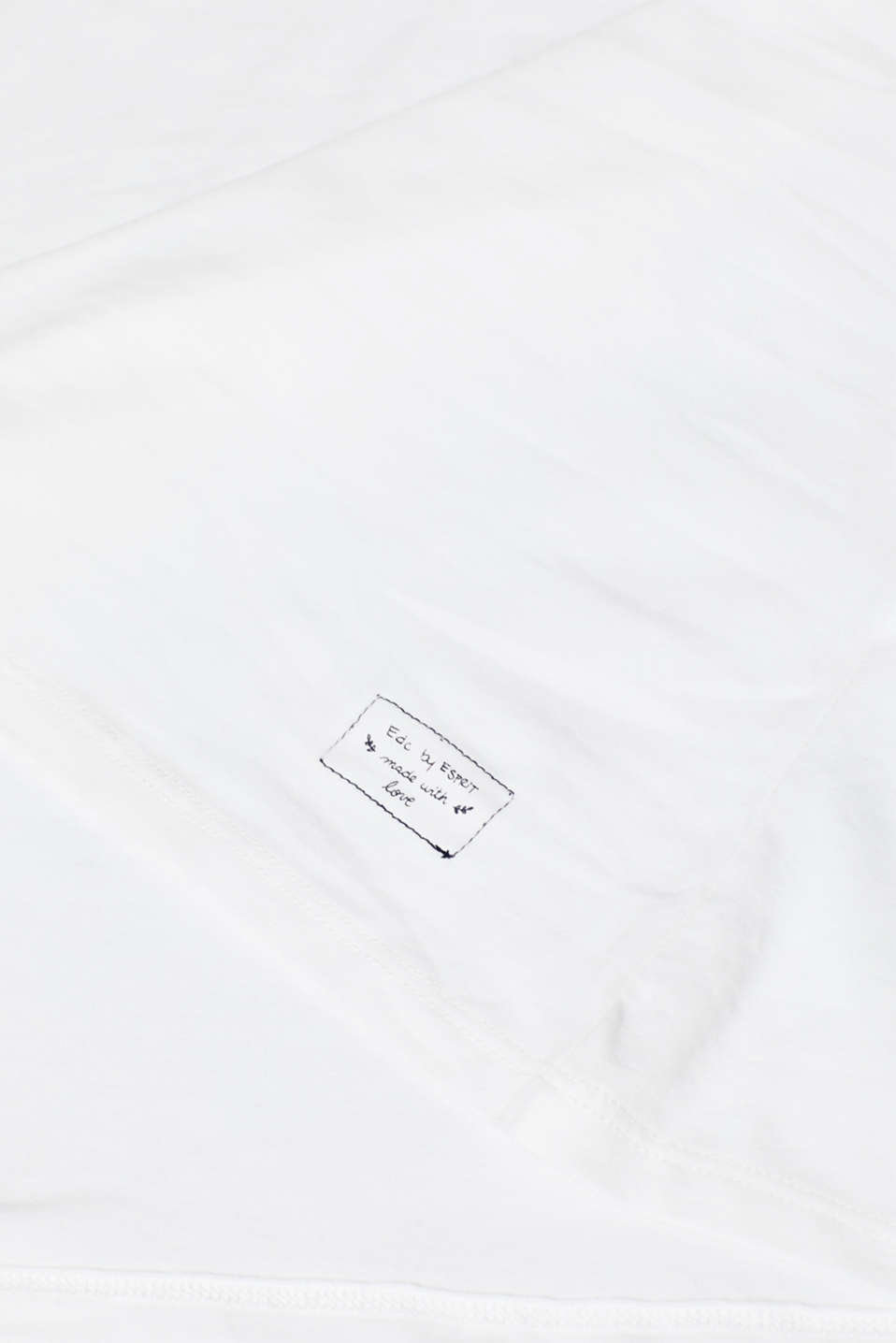 Stretch long sleeve top with organic cotton, OFF WHITE, detail image number 4