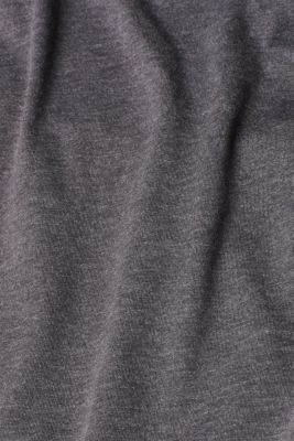 Melange long sleeve top with organic cotton, ANTHRACITE 4, detail