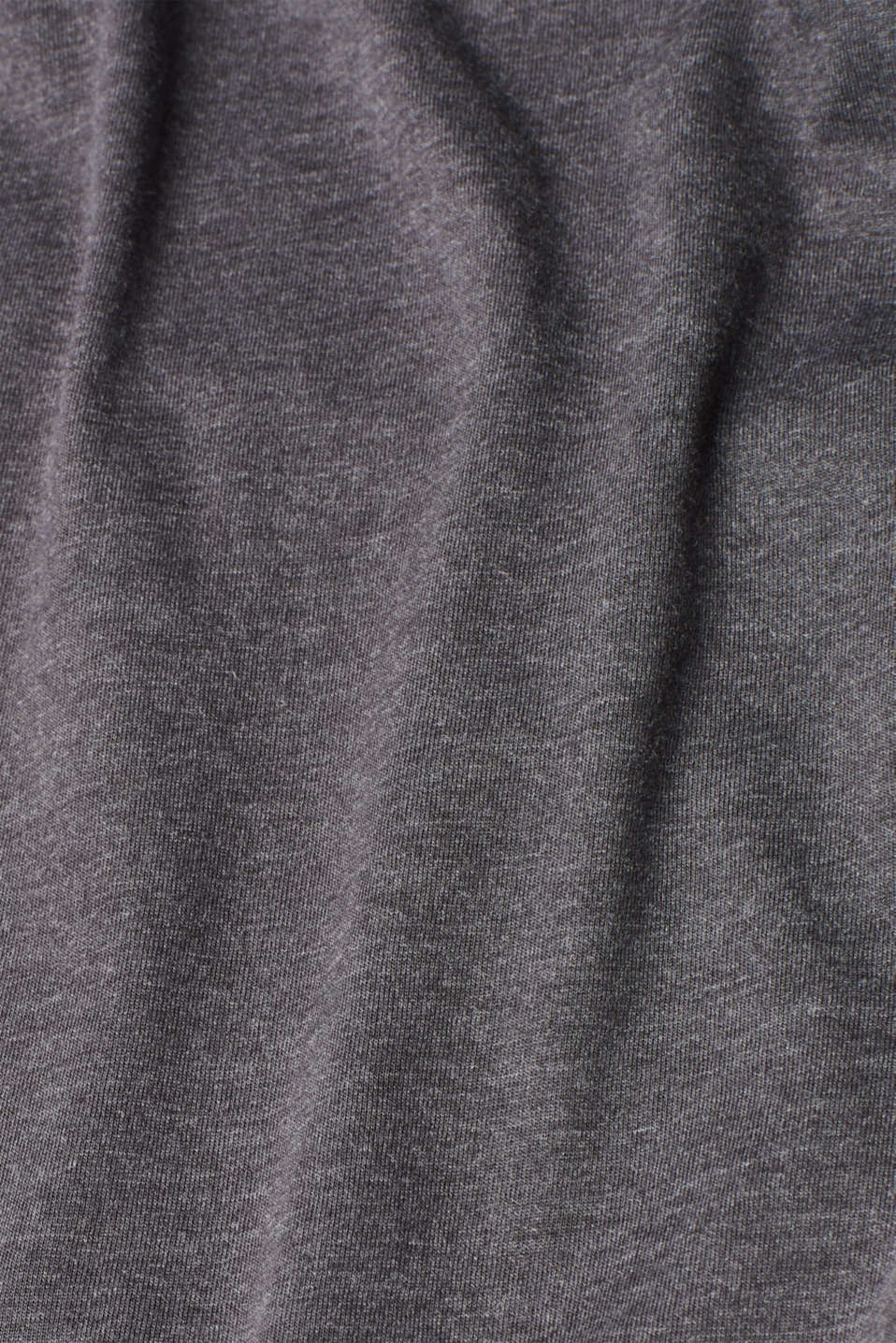 Melange long sleeve top with organic cotton, ANTHRACITE 4, detail image number 4