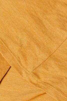 Melange long sleeve top with organic cotton, AMBER YELLOW 4, detail