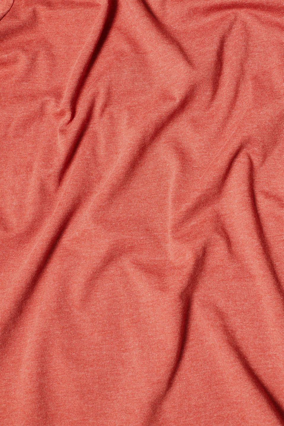 Melange long sleeve top with organic cotton, RUST ORANGE 4, detail image number 4