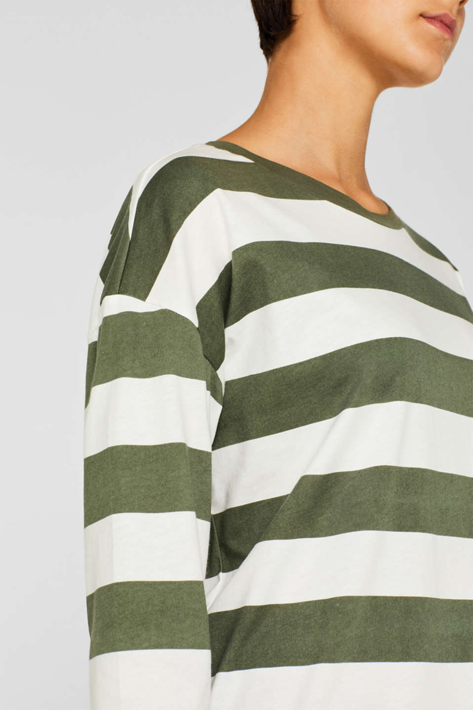 T-Shirts, KHAKI GREEN, detail image number 2