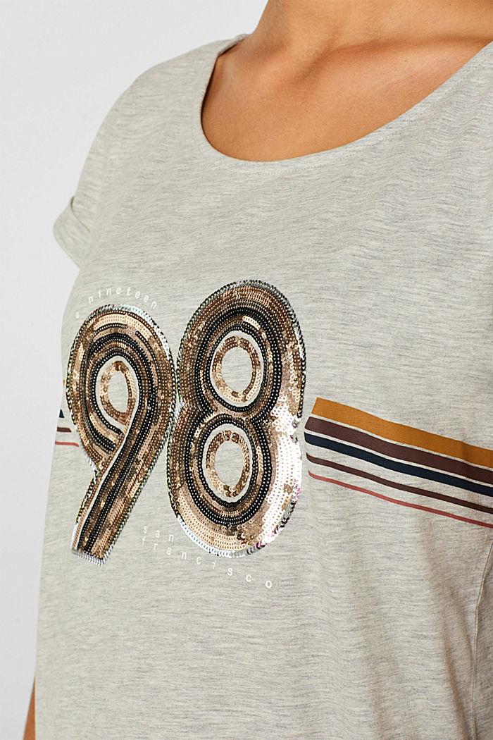 Melange top with sequin embellishments, LIGHT GREY, detail image number 2