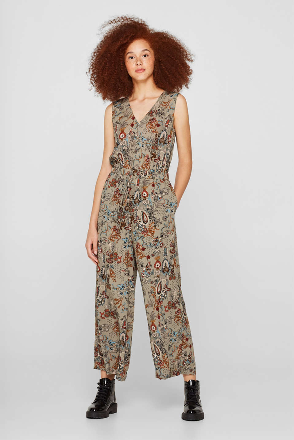 edc - Woven jumpsuit with a wide leg