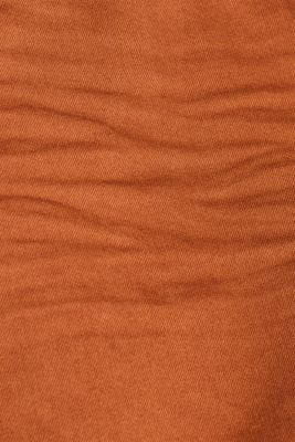 Stretch jeans in coloured denim, RUST BROWN, detail