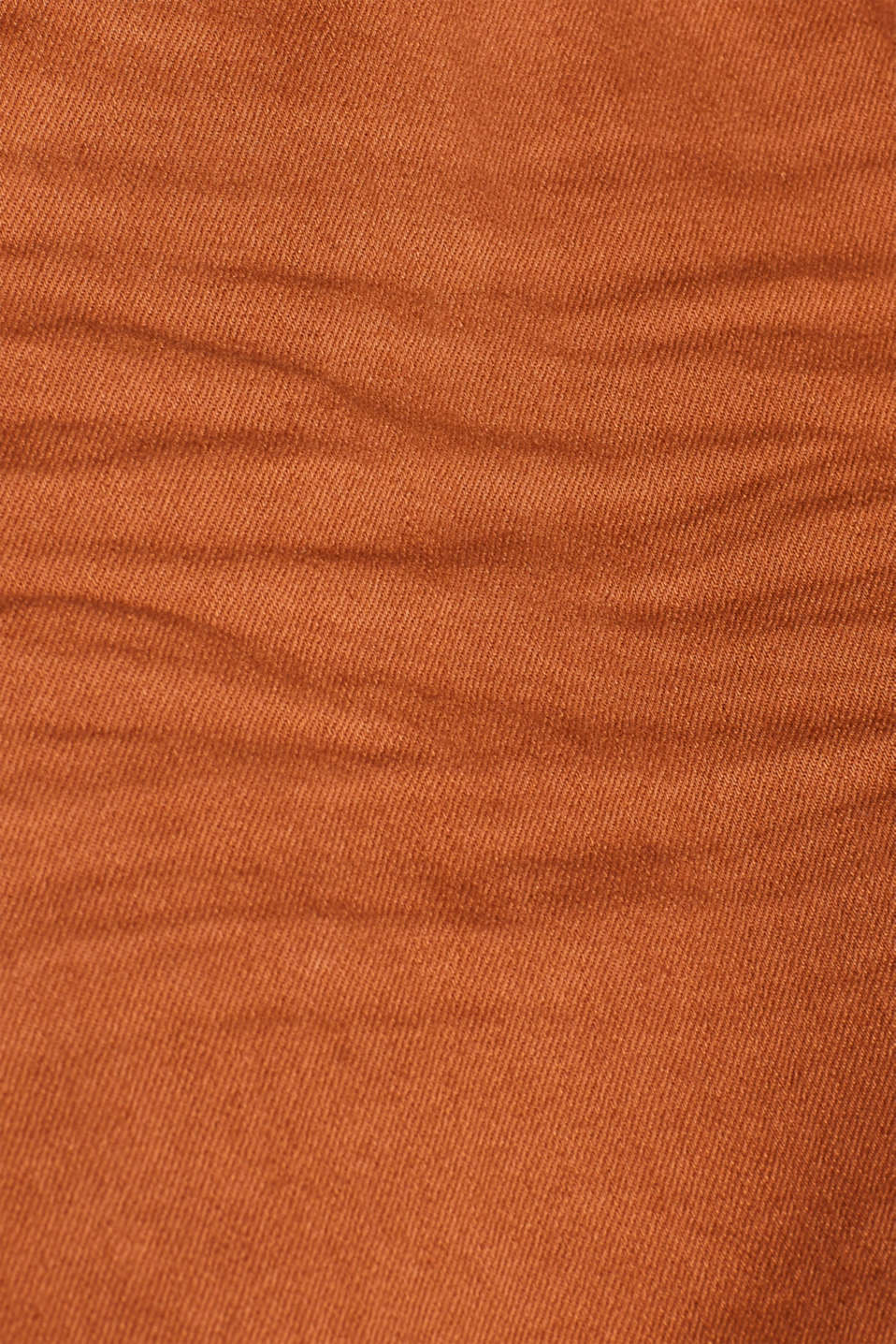 Stretch jeans in coloured denim, RUST BROWN, detail image number 4