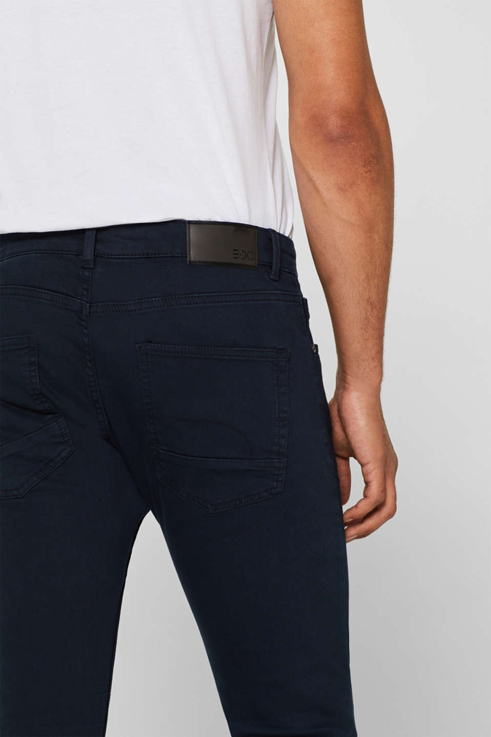 Stretch jeans in coloured denim, NAVY, detail image number 2