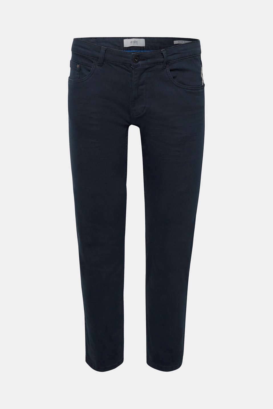 Stretch jeans in coloured denim, NAVY, detail image number 6