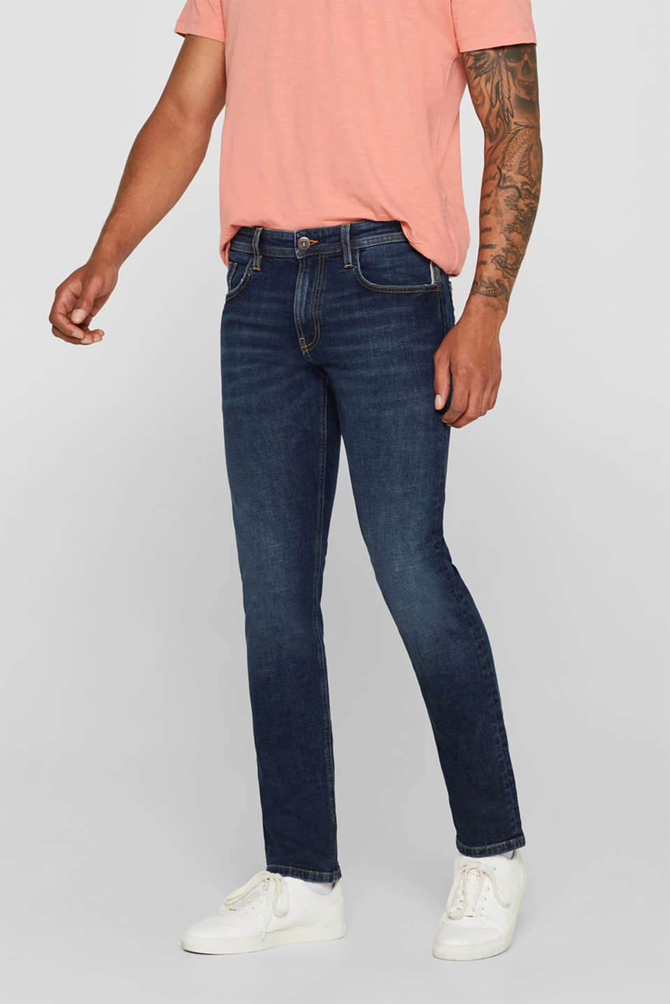 edc - Stretchjeans met washed-out effect
