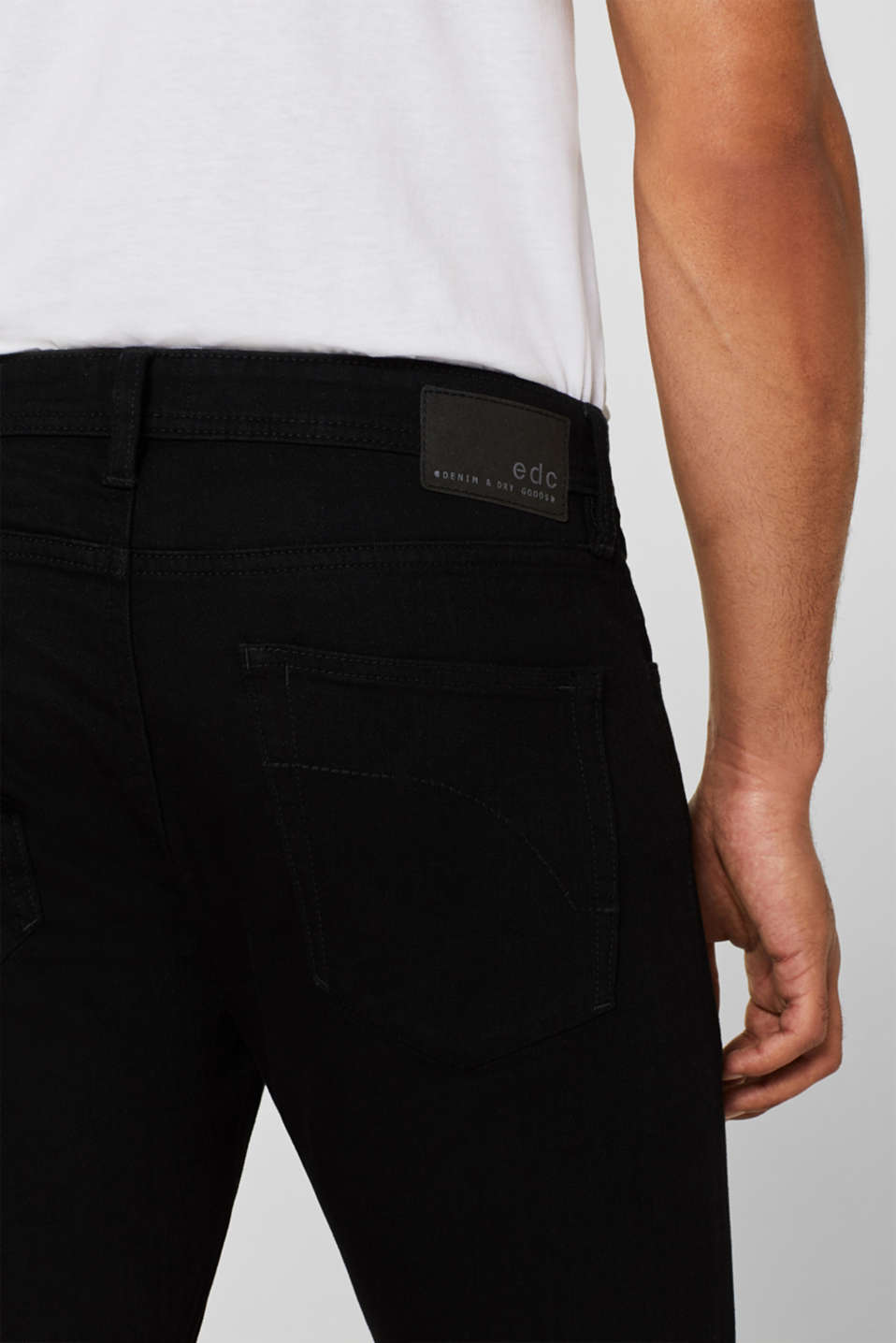Stretch jeans with washed-out effects, BLACK RINSE, detail image number 4
