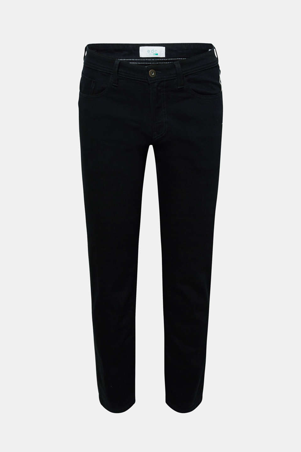 Stretch jeans with washed-out effects, BLACK RINSE, detail image number 5