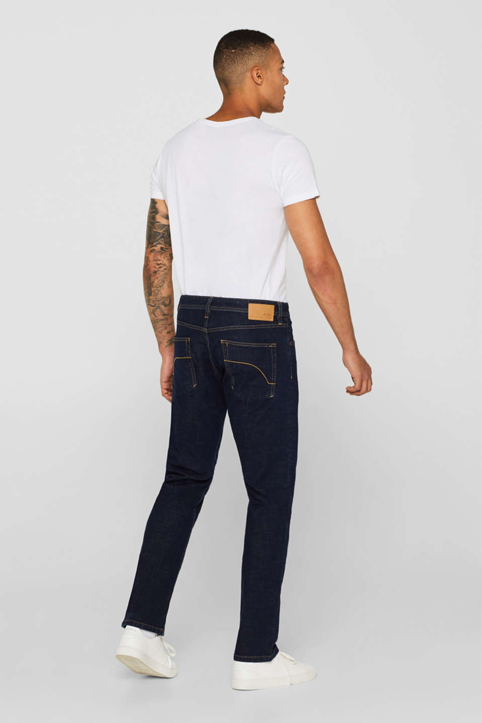 Stretch jeans containing organic cotton, BLUE RINSE, detail image number 1