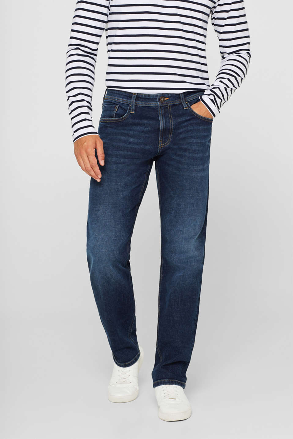 edc - Stretch-Jeans mit Organic Cotton