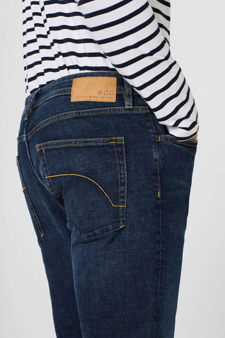 Pants denim, BLUE DARK WASH, detail image number 3