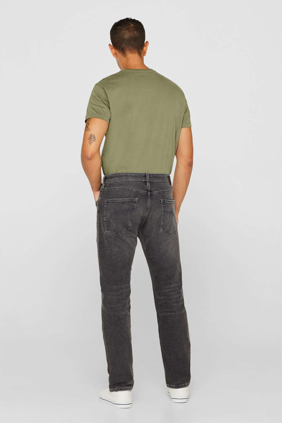 Stretch jeans containing organic cotton, GREY MEDIUM WASH, detail image number 1
